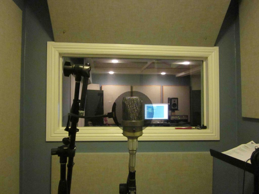 akoestisch schuim in een studio